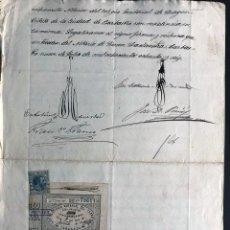 Manuscritos antiguos: BARBASTRO 1886 ( COLEGIO NOTARIAL ZARAGOZA - SELLO 7 CLASE ) PODERES NOTARIALES. Lote 245453280