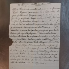 Manuscritos antiguos: DOCUMENTO MANUSCRITO DEL S. XIX DE LA LEYENDA DEL DRAGÓN ALADO DE BANYOLES, GIRONA.. Lote 246139065
