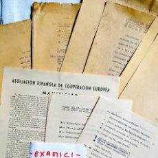 Manuscritos antiguos: 1955-1957 - DOCUMENTOS SOBRE LA ACTIVIDAD DE LA OPOSICIÓN MONÁRQUICA Y REUNIONES CON DON JUAN. Lote 246150145