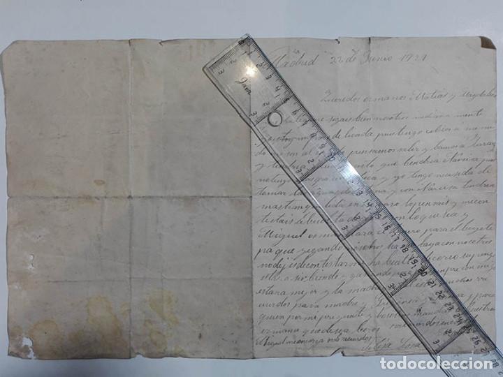 CARTA DESDE MADRID. 1921. VIAJE PARA TOMAR BAÑOS EN ZARAUZ. (Coleccionismo - Documentos - Manuscritos)