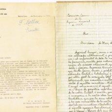 Manuscritos antiguos: COMISSIÓ CONMEMORADORA DE LA EXPOSICIÓ UNIVERSAL 1888 BARCELONA 1935 MANUSCRITO. Lote 247274400