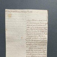 Manuscritos antiguos: 1798 - CIRCULAR A LOS MAESTRANTES DE RONDA DONDE SE DA CUENTA DE LAS MODIFICACIONES DE SU UNIFORME -. Lote 247571620