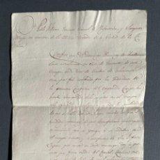 Manuscritos antiguos: 1813 - CARTA DE RECOMENDACIÓN DEL TENIENTE DE LA MILICIA DE A CORUÑA DOMINGO RAMIREZ DE ARELLANO. Lote 247572890