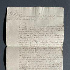Manuscritos antiguos: 1815 - GUERRA DE INDEPENDENCIA - FUENTERRABÍA - HUIDA CON BARCO - NAPOLEÓN -. Lote 247606190