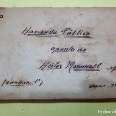 Manuscritos antiguos: HÉCTOR MARAVALL, APUNTES, MANUSCRITO. 1933.. Lote 247809265