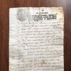 Manuscritos antiguos: AÑO 1769. AMPUERO. SANTANDER. REMATE DE ABASTO DE AGUARDIENTE Y DE ABACERÍA. ACEITE, PESCADO.... Lote 248022050