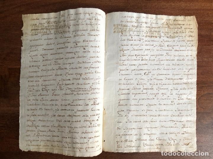 Manuscritos antiguos: AÑO 1769. AMPUERO. SANTANDER. REMATE DE ABASTO DE AGUARDIENTE Y DE ABACERÍA. ACEITE, PESCADO... - Foto 2 - 248022050
