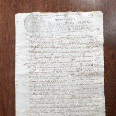 Manuscritos antiguos: AÑO 1769. AMPUERO. SANTANDER. ESCRITURA DE VENTA REAL DOS HELGUEROS TIERRAS MASA REDONDA, ROCILLO.. Lote 248035290
