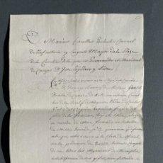 Manuscritos antiguos: 1816 - CERTIFICADO DEL SERVICIO EN LAS MILICIAS HONRADAS DE A CORUÑA CONTRA LOS FRANCESES -. Lote 248208660