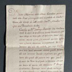 Manuscritos antiguos: 1789 - CERTIFICADO DEL BUEN SERVICIO DE UN ESCRIBIENTE QUE PASA A AYUDA DE CÁMARA DEL PRINCIPE. Lote 248209025