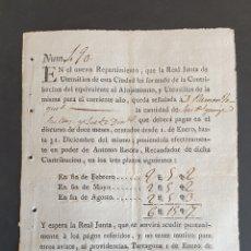 Manuscritos antiguos: REPARTIMIENTO DE LA CIUDAD DE TARRAGONA CONTRIBUCIÓN ALOJAMIENTO Y UTENSILIOS 1817 SIGLO XIX. Lote 248731270