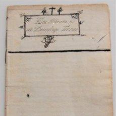 Manuscritos antiguos: MANUSCRITO SIGLO XVIII CON EL SUMARIO DE LA HISTORIA ECLESIÁSTICA EN PAREADOS DE DOMINGO TORRAS. Lote 248732890