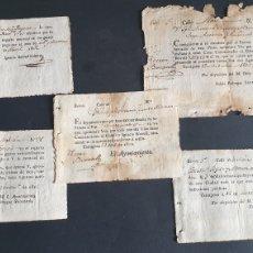 Manuscritos antiguos: LOTE DE 5 GASTOS EXTRAORDINARIOS CIUDAD DE TARRAGONA 1812 SIGLO XIX. Lote 248752720