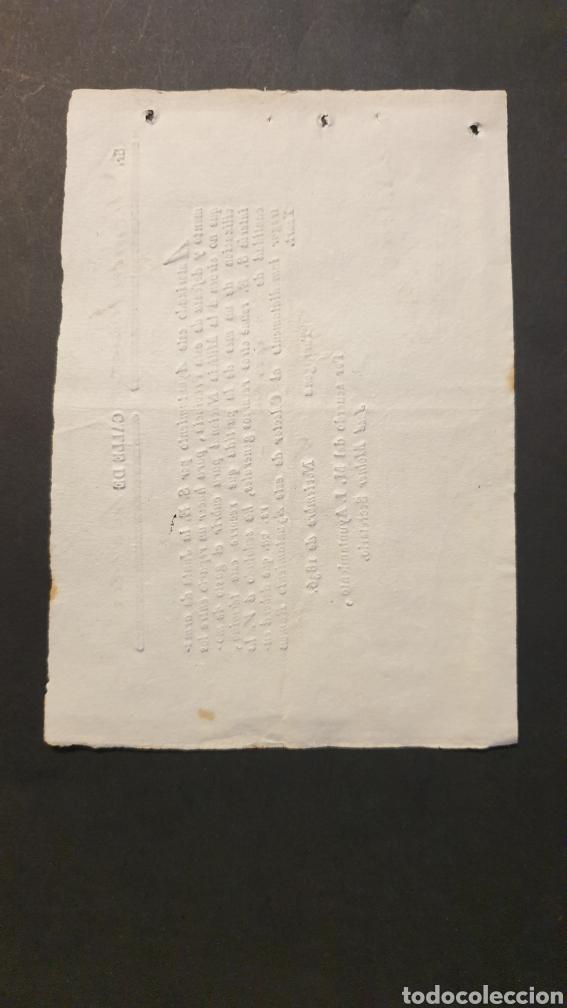 Manuscritos antiguos: Pago inmediatamente reparto entre los que NO sirven á l Milicia Nacional Tarragona 1836 Siglo XIX - Foto 3 - 248791520