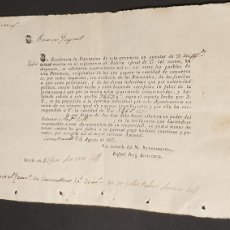 Manuscritos antiguos: CONSTANTÍ 1837 PAGO DE PUEBLOS ESTA PROVINCIA CON EXCLUSIÓN LOS NACIONALES Y SUS FAMILIARES. Lote 248814610