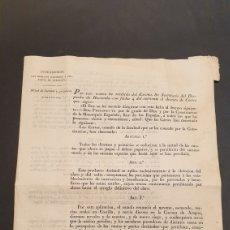 Manuscritos antiguos: CIRCULAR DECRETO FERNANDO VII MITAD DE DIEZMOS Y PRIMICIAS CON 18 ARTÍCULOS BARCELONA 1821 SIGLO XIX. Lote 249074250