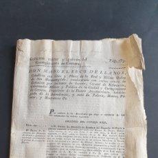 Manuscritos antiguos: 16 ORDENES CONSEJO REAL 1832 SIGLO XIX PROHÍBE A JÓVENES DE PENÍNSULA Y AMÉRICAS EDUCARSE EN FRANCIA. Lote 249101170