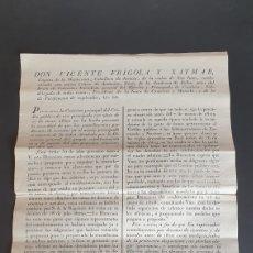 Manuscritos antiguos: CONTRIBUYENTES POR DIEZMOS DE ECSENTOS Y NOVALES NO PUEDAN ALEGAR IGNORANCIA 1824. Lote 249107625
