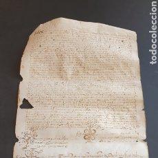 Manuscritos antiguos: PERGAMINO PIEL EN LATÍN PRINCIPIOS SIGLO XVII 1611 - 12 DONACIÓN GUISSONA LÉRIDA CATALUÑA SEGARRA. Lote 249136755