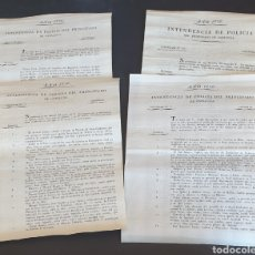 Manuscritos antiguos: LOTE INTENDENCIA DE POLICÍA PRINCIPADO CATALUÑA 1826 CAPTURAS. ROBO ASESINATO FUGADO CÁRCEL DESERTOR. Lote 249142960