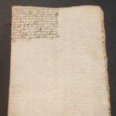 Manuscritos antiguos: CLAUSULA TESTAMENTO CANÓNIGO QUE ATIENDE SERVICIO CONFESIÓN METROPOLITANA IGL. TARRAGONA SIGLO XVII. Lote 249240365