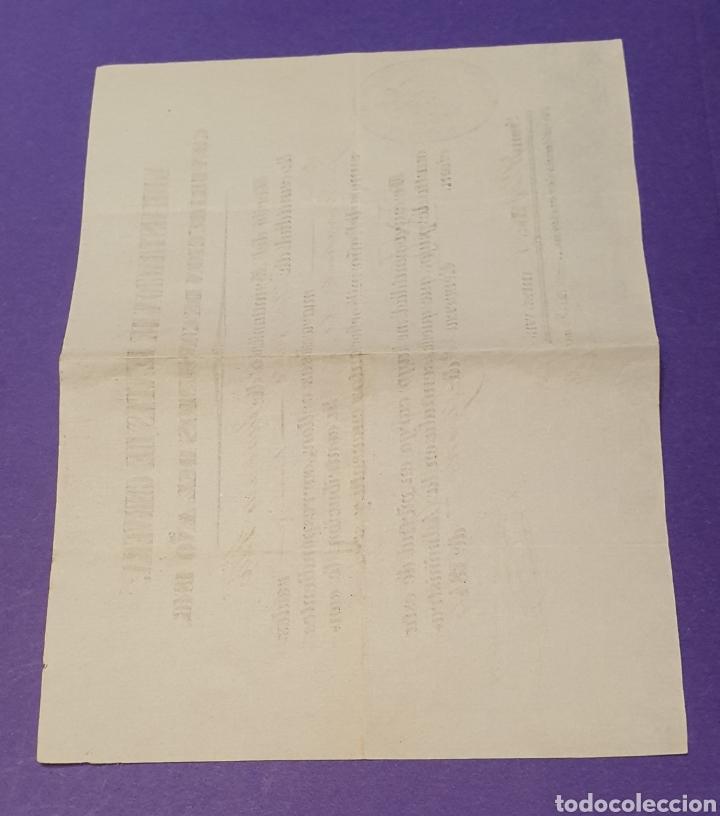 Manuscritos antiguos: Contribución de consumo 120 reales y 8 maravedises vellón 1846 sello tampón de Cerveza - Foto 2 - 249370380
