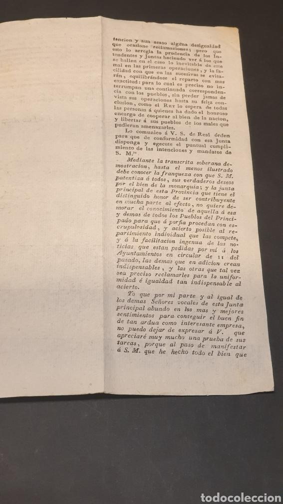 Manuscritos antiguos: Ejercito Principado de Cataluña Circular Ejecución del Sistema de Hacienda Barcelona 1817 siglo XIX - Foto 3 - 249376920