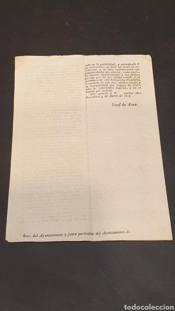 Manuscritos antiguos: Ejercito Principado de Cataluña Circular Ejecución del Sistema de Hacienda Barcelona 1817 siglo XIX - Foto 4 - 249376920