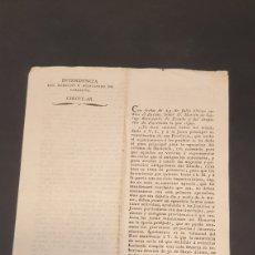 Manuscritos antiguos: EJERCITO PRINCIPADO DE CATALUÑA CIRCULAR EJECUCIÓN DEL SISTEMA DE HACIENDA BARCELONA 1817 SIGLO XIX. Lote 249376920