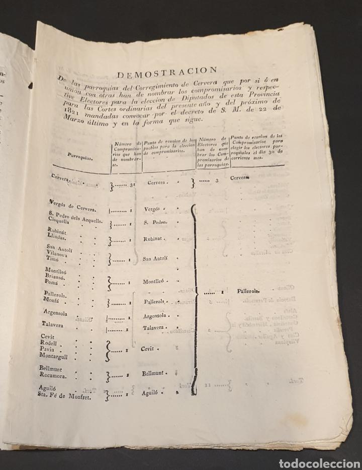 Manuscritos antiguos: Para facilitar elección de compromisarios y electores parroquiales de Diputados y instrucciones 1820 - Foto 3 - 249383230