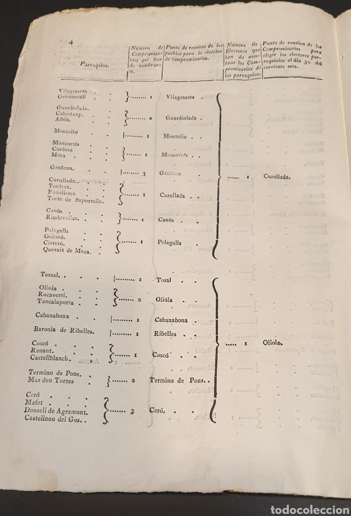 Manuscritos antiguos: Para facilitar elección de compromisarios y electores parroquiales de Diputados y instrucciones 1820 - Foto 6 - 249383230