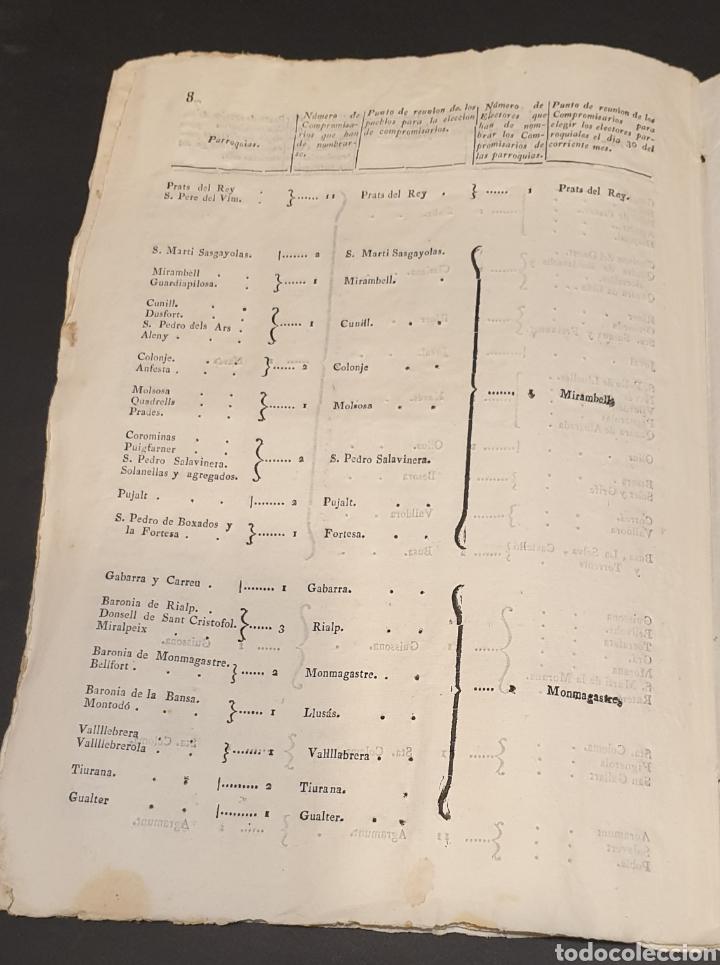 Manuscritos antiguos: Para facilitar elección de compromisarios y electores parroquiales de Diputados y instrucciones 1820 - Foto 10 - 249383230
