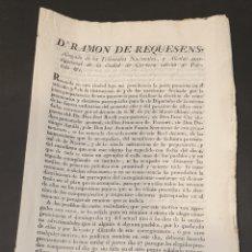 Manuscritos antiguos: PARA FACILITAR ELECCIÓN DE COMPROMISARIOS Y ELECTORES PARROQUIALES DE DIPUTADOS Y INSTRUCCIONES 1820. Lote 249383230