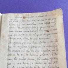 Manuscritos antiguos: LIBRETA PEQUEÑA ARTESANAL MANUSCRITA MOTIVOS PARA AYUDAR A MORIR BIEN SIGLO XVIII. Lote 249510085