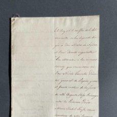 Manuscritos antiguos: 1833 - CONCESIÓN CRUZ ISABEL LA CATOLICA A NICETO LARRETA. Lote 250125145