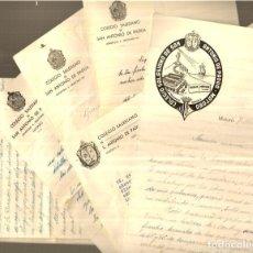 Manuscritos antiguos: 13 CARTAS CON MEMBRETE * COLEGIO SALESIANO SAN ANTONIO DE PADUA * MATARÓ - AÑOS 40-41-42. Lote 250331045
