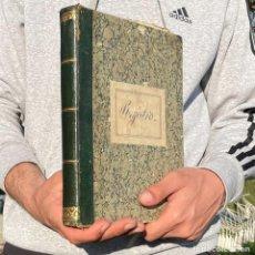 Manuscritos antiguos: 1880 - LIBRO DE REGISTRO CASI ENTERAMENTE EN BLANCO -. Lote 251392055