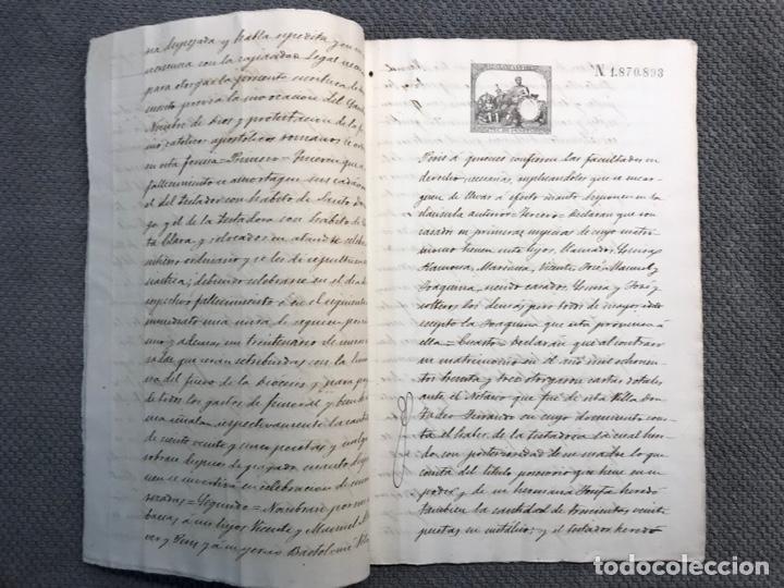 Manuscritos antiguos: VALLADA, Valencia Documentos Hijuelas repartición de bienes, tierras, casas (fin Siglo XIX) - Foto 3 - 251927420