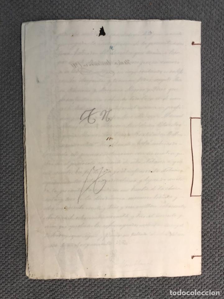 Manuscritos antiguos: VALLADA, Valencia Documentos Hijuelas repartición de bienes, tierras, casas (fin Siglo XIX) - Foto 4 - 251927420