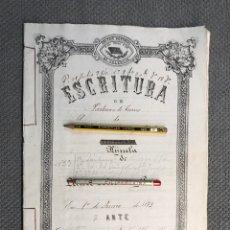 Manuscritos antiguos: VALLADA, VALENCIA DOCUMENTOS HIJUELAS REPARTICIÓN DE BIENES, TIERRAS, CASAS (FIN SIGLO XIX). Lote 251927420