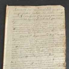 Manuscritos antiguos: LIBRO RELIGIOSO MANUSCRITO EL LATÍN RESUMEN O COMPENDIO DE LÓGICA SIGLO XVIII. Lote 251931010