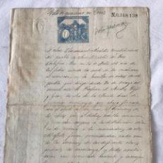 Manuscritos antiguos: DOCUMENTACIÓN MANUSCRITO DE SAN MARTI DE TOUS 1887 VOTO DE GRACIAS FIRMA DEL ALCALDE.. Lote 252424075