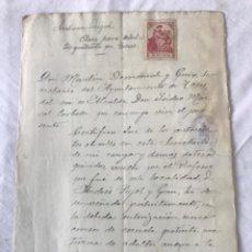 Manuscritos antiguos: DOCUMENTACIÓN MANUSCRITO DE SAN MARTI DE TOUS 1913. CLASES GRATUITAS.. Lote 252424690