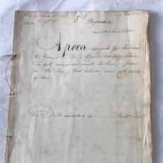 Manuscritos antiguos: DOCUMENTACIÓN MANUSCRITA LEGAJÓ VENTAS DE LA CIUDAD DE REUS TARRAGONA 1864. Lote 252428320