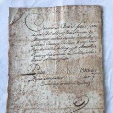 Manuscritos antiguos: DOCUMENTACIÓN MANUSCRITA CREACIÓN CENSAL REUS TARRAGON 1800. Lote 252430020