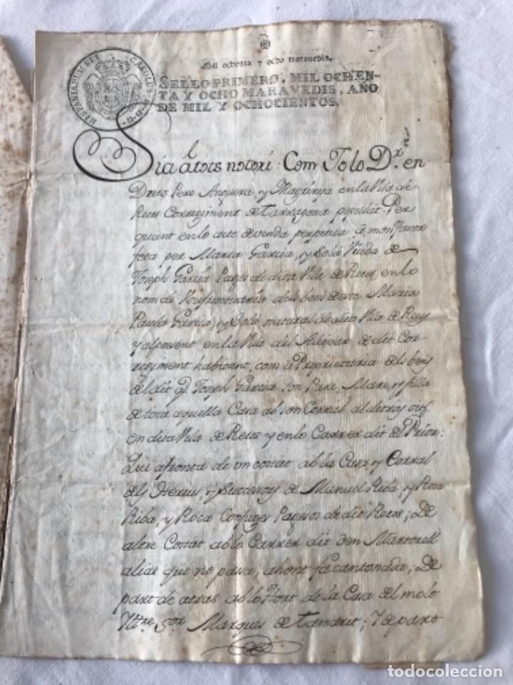 Manuscritos antiguos: DOCUMENTACIÓN MANUSCRITA CREACIÓN CENSAL REUS TARRAGON 1800 - Foto 2 - 252430020