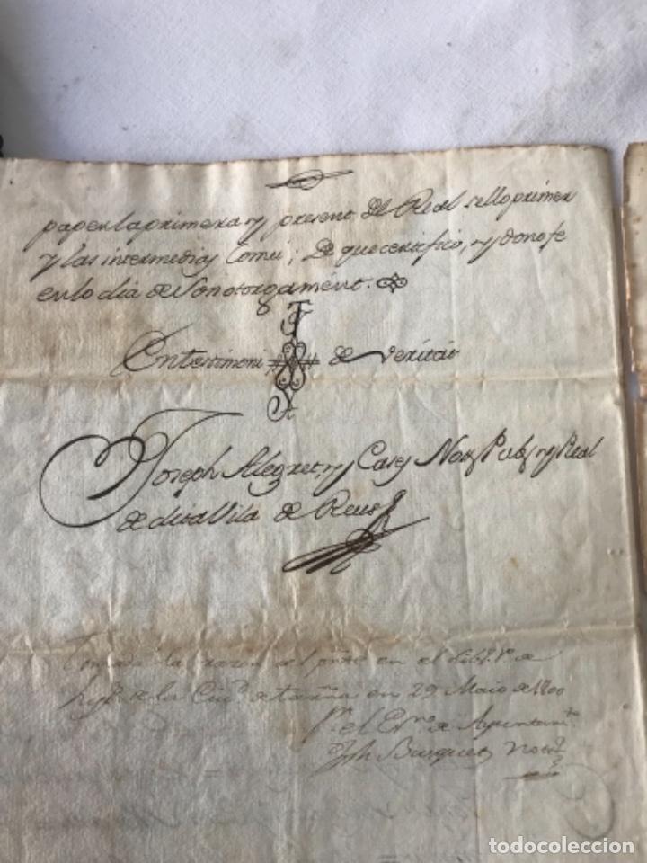 Manuscritos antiguos: DOCUMENTACIÓN MANUSCRITA CREACIÓN CENSAL REUS TARRAGON 1800 - Foto 6 - 252430020