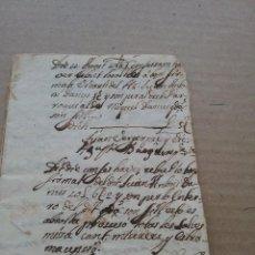 Manuscrits anciens: MANUSCRITO OBRAS PÍAS AÑO 1766 (359-4). Lote 252914660