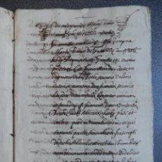 Manoscritti antichi: MANUSCRITO AÑO 1640 VALENCIA PAGO DE CENSO POR VENTA 8 PÁGS.. Lote 253080080