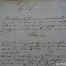 Manuscritos antiguos: PALMA MALLORCA, PAPEL SOBRE CENSOS SANTA EULALIA, SAN MIGUEL, BUÑOLAS, COFRADÍAS S PEDRO Y BERNARDO. Lote 52370176